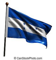 wysoki, rozkład, bandera, od, honduras