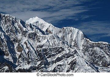wysoki, teren górzysty, gangapurna, annapurna