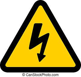 wysoki, wektor, napięcie elektryczne, znak