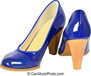 wysokie obuwie pięty