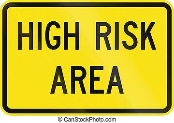 wysokie ryzyko, powierzchnia, w, australia