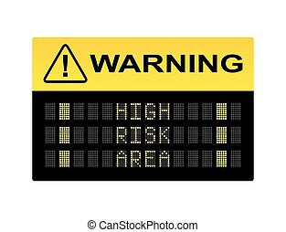 wysokie ryzyko, powierzchnia, znak