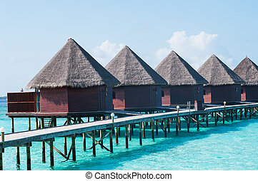 wyspa, domki wypoczynkowy, malediwy, overwater, raj