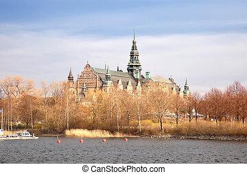wyspa, sztokholm, djurgarden