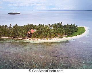 wyspa, willa, prywatny