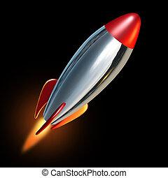 wystrzeliwać, rakieta