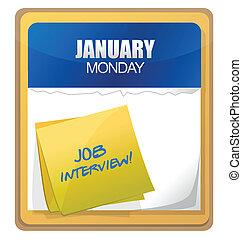 wywiad, pisemny, kalendarz, praca, słówko