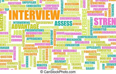 wywiad, praca