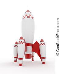 wzór, białe tło, odizolowany, rakieta