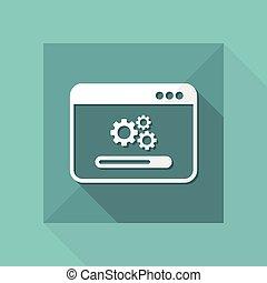 wzniesienie, komputer, inscenizacje, ikona