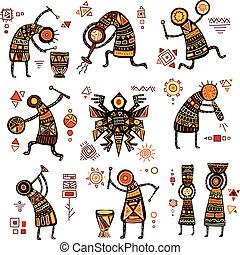 wzory, afrykanin, etniczny