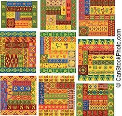wzory, afrykanin, upiększenia, etniczny