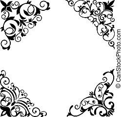 wzory, brzegi, kwiat