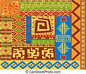 wzory, etniczny