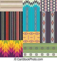 wzory, komplet, etniczny
