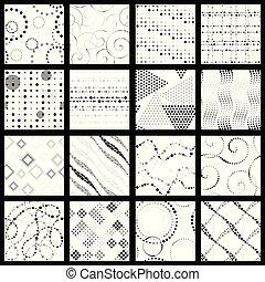 wzory, komplet, kropkowany, minimalista