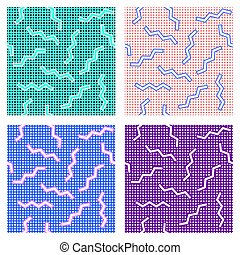 wzory, komplet, memphis