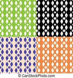 wzory, komplet, ozdoba, seamless, stripy