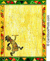 wzory, krajowy, afrykanin
