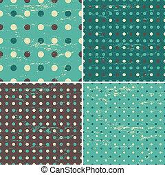 wzory, polka, seamless, kropka, inkasować