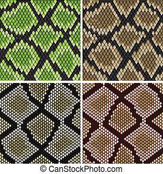 wzory, seamless, wąż skóra