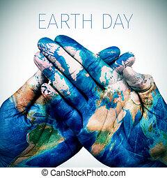 wzorzysty, mapa, tekst, siła robocza, ziemia, nasa), świat, (furnished, dzień, człowiek