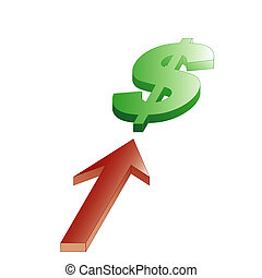 wzrastać, dolar