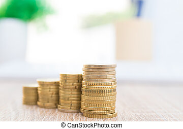 wzrastać, uważając, waluty, sztaplowany, ekonomia