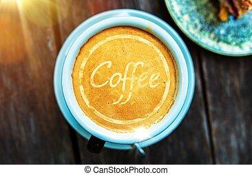 xícara café, conceito