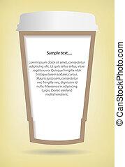 xícara café, papel