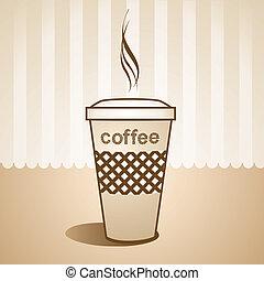 xícara café quente