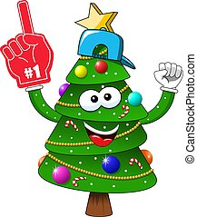 xριστούγεννα , απομονωμένος , δέντρο , αριθμόs , γάντι , χριστούγεννα , αγάλλομαι , υποστηρικτής , ανεμιστήραs , εις , γελοιογραφία