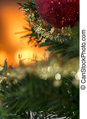 xριστούγεννα , γενική ιδέα , με , μικρό , χρυσαφένιος , αστέρας του κινηματογράφου