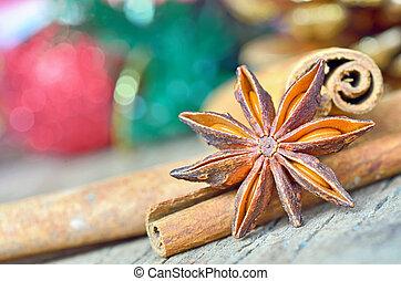 xριστούγεννα , γλυκάνισο , αστέρι , κανέλλα , ώρα