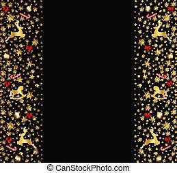 xριστούγεννα , διακοσμητικός αγγίζω τα όρια , γινώμενος , από , εορταστικός , στοιχεία , επάνω , μαύρο , πτυχίο από πανεπιστίμιο