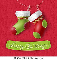 xριστούγεννα , κάλτσεs
