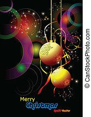 xριστούγεννα , - , νέο έτος , λάμπω , κάρτα , wi