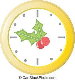 xριστούγεννα , ρολόι
