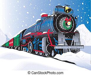 xριστούγεννα , τρένο