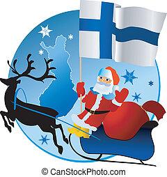 xριστούγεννα , finland!, εύθυμος