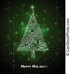 xριστούγεννα , hi-tech , δέντρο
