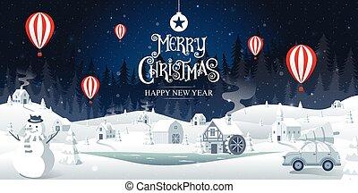 xριστούγεννα , illustration., μικροβιοφορέας , φαντασία , καλλιγραφία , εύθυμος , καινούργιος , χρυσαφένιος , έτος , ευτυχισμένος