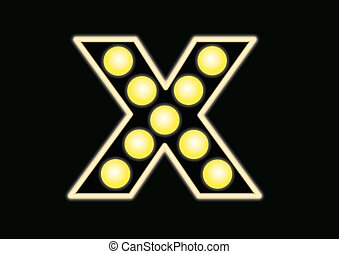 x, 氖徵候