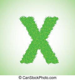 x, 草, 手紙