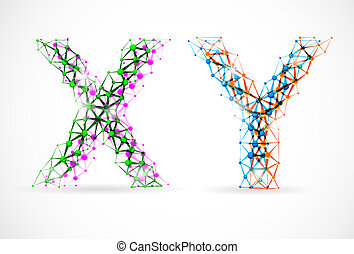 X and Y chromosomes - An abstract image of x and y ...