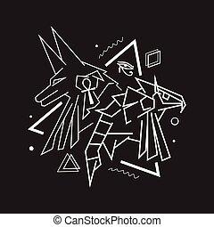 x, anubis, horus