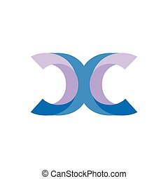 x c initial letter logo vector template