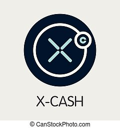 X-Cash XCASH - Cryptocurrency Coin Image. Vector Icon -...