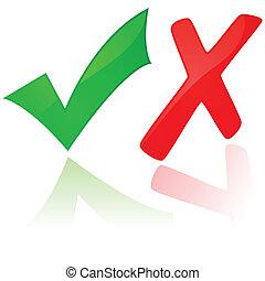 x, confira mark