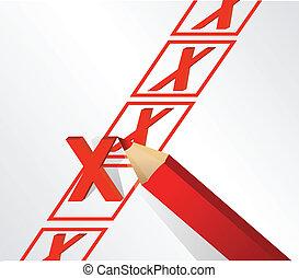 x, desenho, ilustração, marca